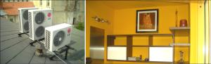 Ukázka realizací montáže klimatizace do bytu, domu, kanceláře nebo prodejny