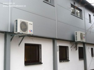 Klimatizace - sportovní zázemí rugbystů ve Vyškově